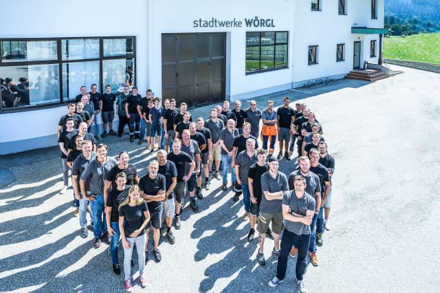 Das Team der Stadtwerke Wörgl. Foto: Atelier Hohlrieder
