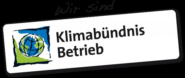 Wir sind Klimabündnis Betrieb Logo