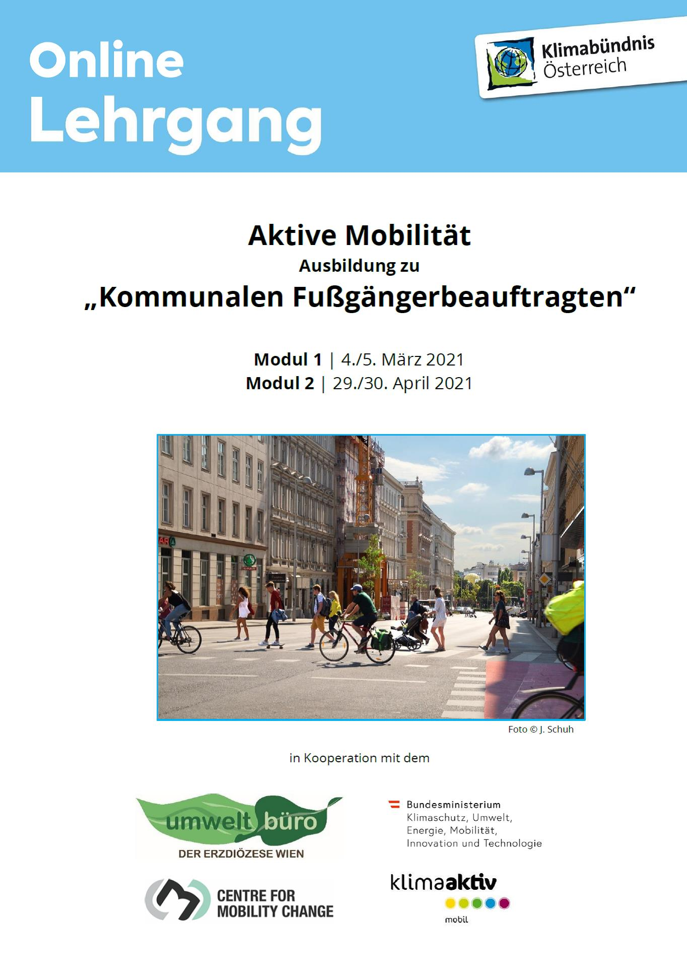 Poster zum Mobilitätslehrgang