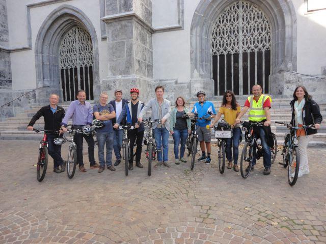 Das Radteams Schwaz beim PRO-BYKE Lokalaugenschein, Foto: Klimabündnis Tirol
