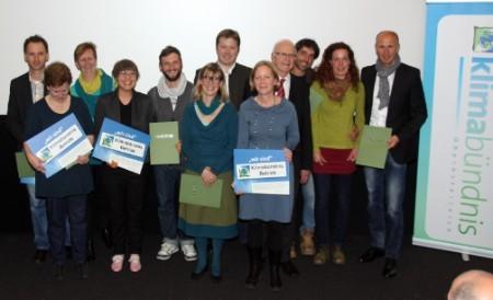 Aufnahme sieben neuer Klimabündnisbetriebe im Welser Programmkino
