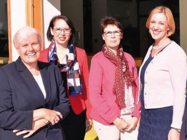 team des tagungshauses, 4 Frauen